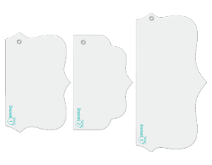 Brackets designer template accessory set.