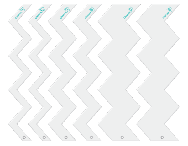 chevrons designer template fun border set.