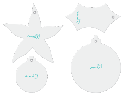 Christmas designer template accessory set.