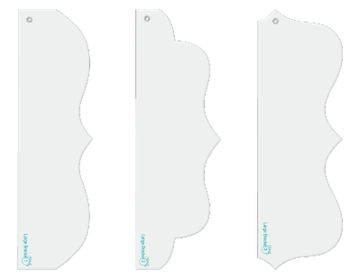 Large Brackets designer template fun border set.