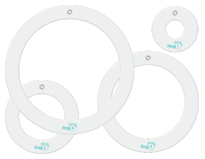 Rings designer template accessory set.