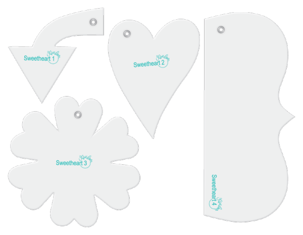 Sweetheart designer template accessory set.
