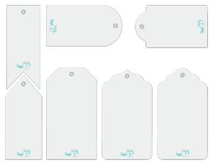Tags designer template accessory set.