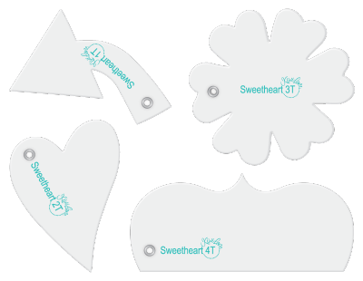Tiny Sweetheart designer template tiny accessory set.