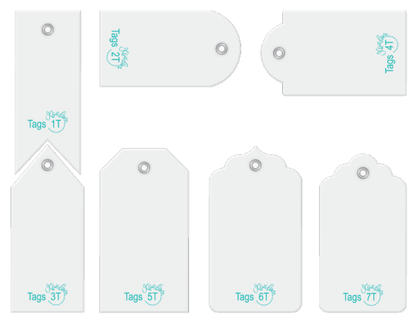 Tiny tags designer template tiny accessory set.