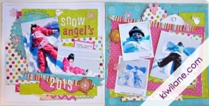 Snow Angels 2-page snow layout