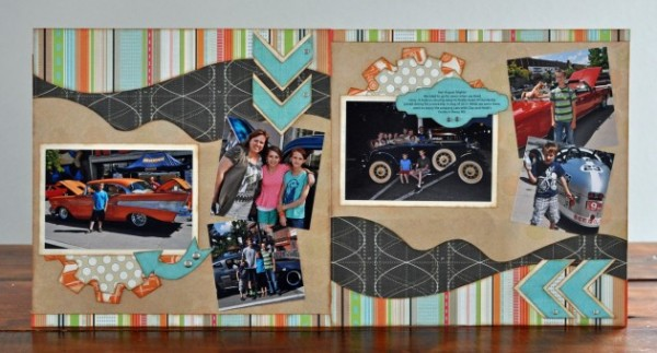 hot august nights full layout featuring Tiny Explore & Elements