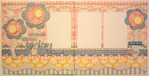 Yesterday, Tomorrow, Today Girly Floral Scrapbooking layout