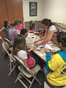 Teaching kids to scrapbook