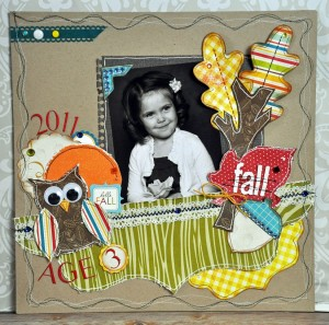 1-page Autumn Layout for Fall