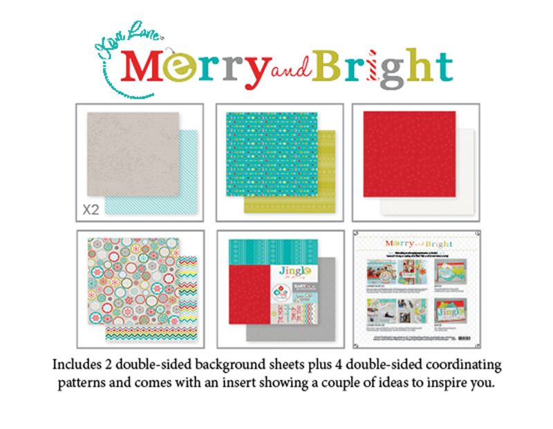 Contents included in the Merry and Bright Paper Kit