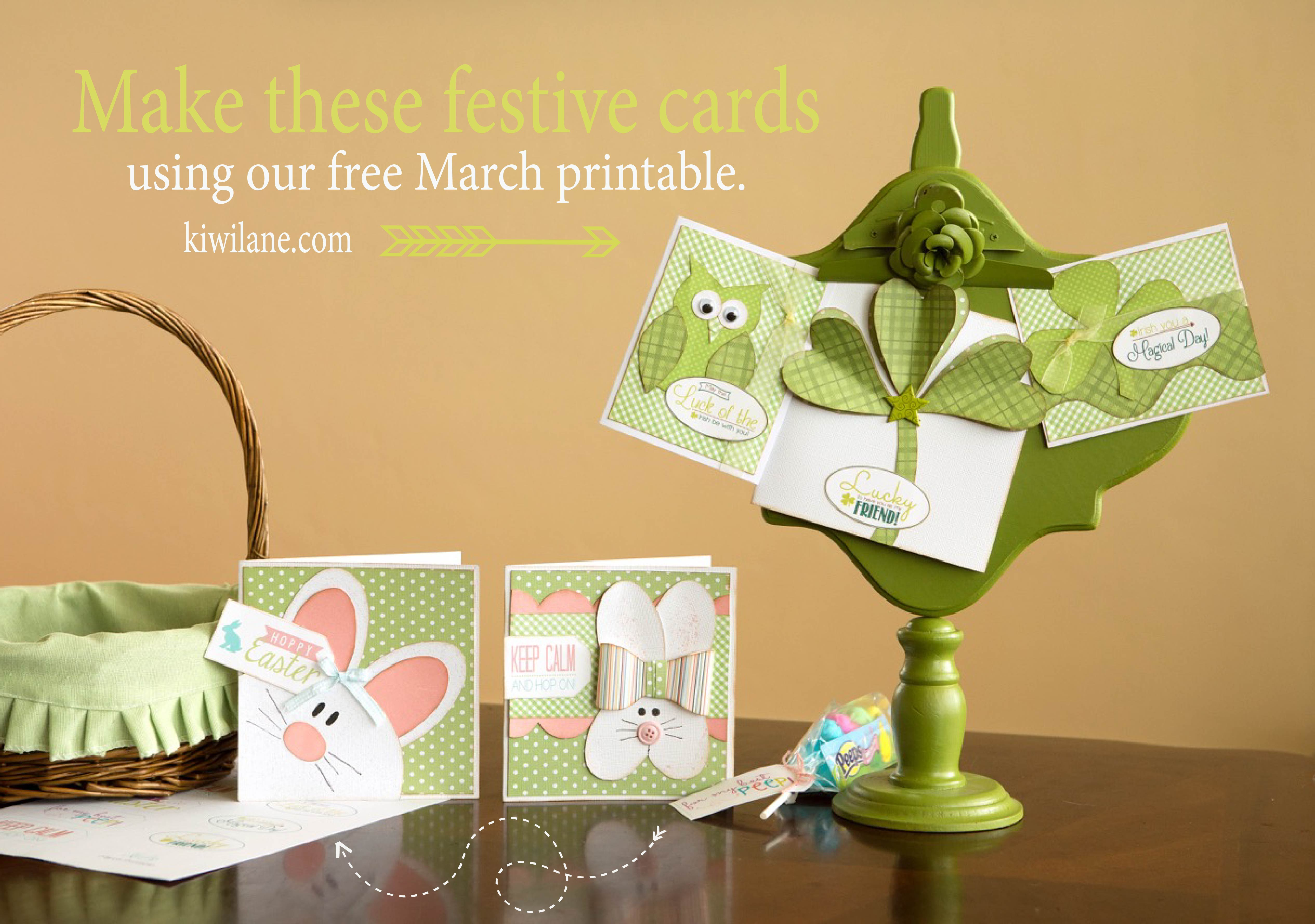 March Printable / festive cards