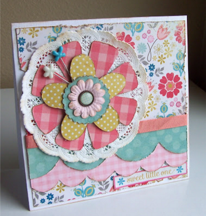 sweet little one - baby card