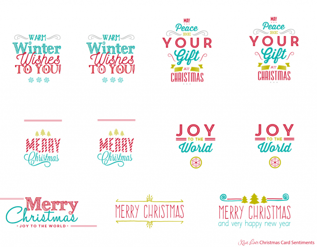 merry and bright christmas card sentiments - Christmas Card Sentiments