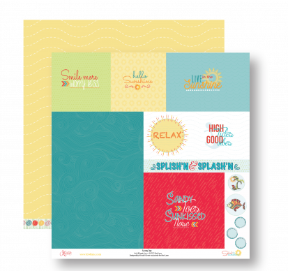 Splash Of Sunshine Layout Kit Paper 1