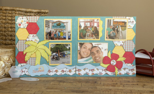 Splash Of Sunshine Layout Kit Sample 2