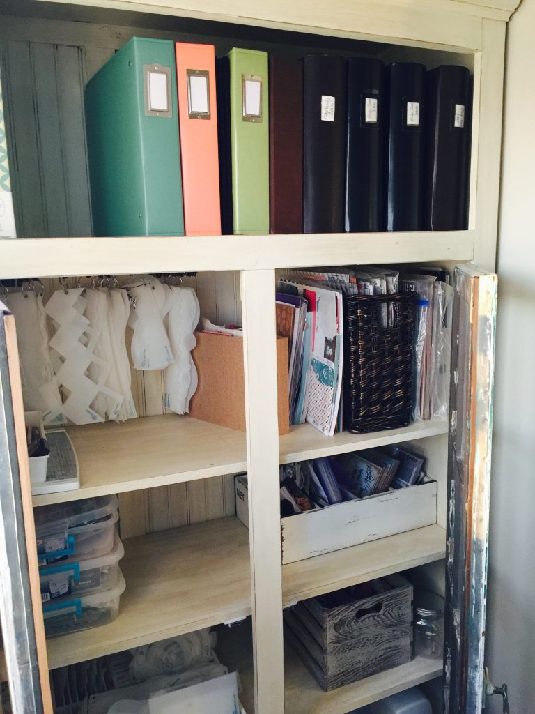 So, Now I Have This Cabinet In My Laundry Room, That I Have Turned Into My  Scrapbooking Closet. It Holds Everything I Need And USE!