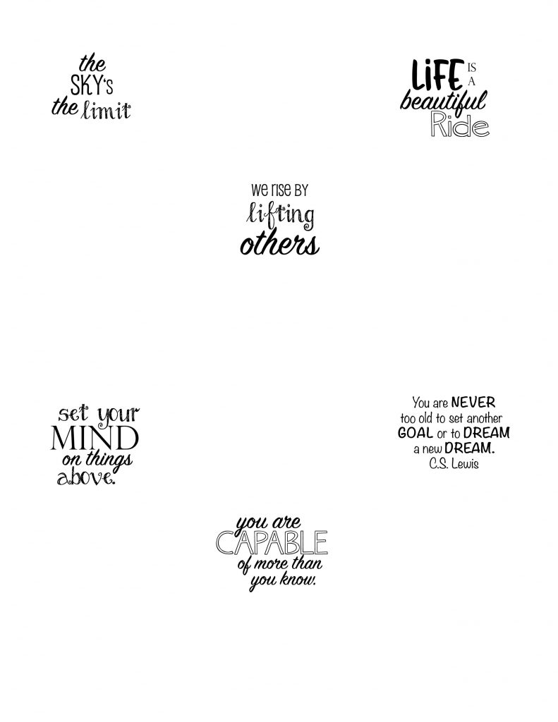 hot air balloon sayings - free printable