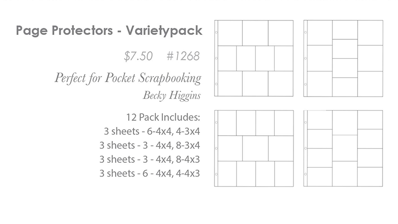 Page Protectors Variety Pack